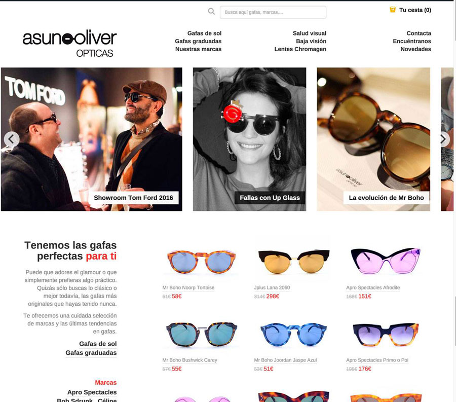 Web Asun Oliver Opticas Valencia
