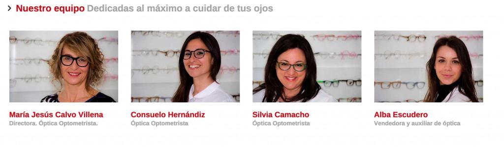 Equipo Optica Alboraia página web