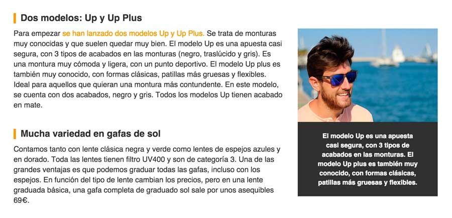Gafas Up Blog y novedades