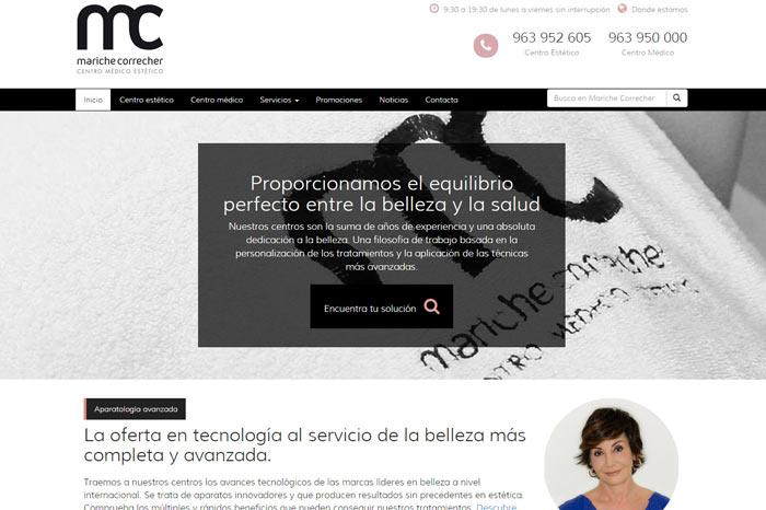 Diseño web Mariche Correcher Valencia