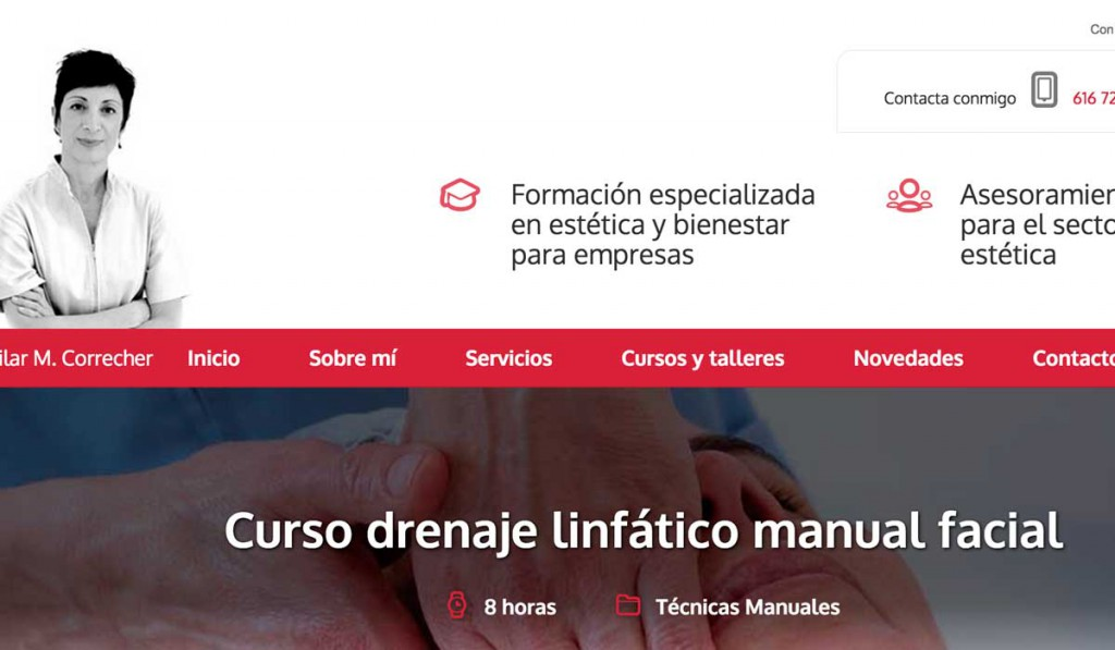 Sitio Web Pilar Correcher