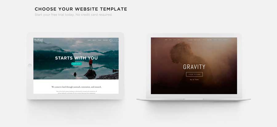 Servicio de publicación web Squarespace