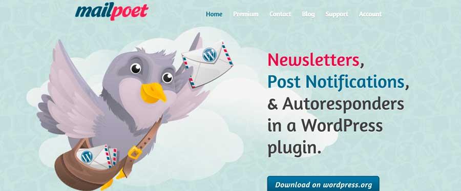 MailPoet WordPress Plugin para listas de correo