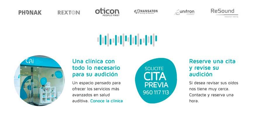 Detalle página web Audiología Integral Valencia