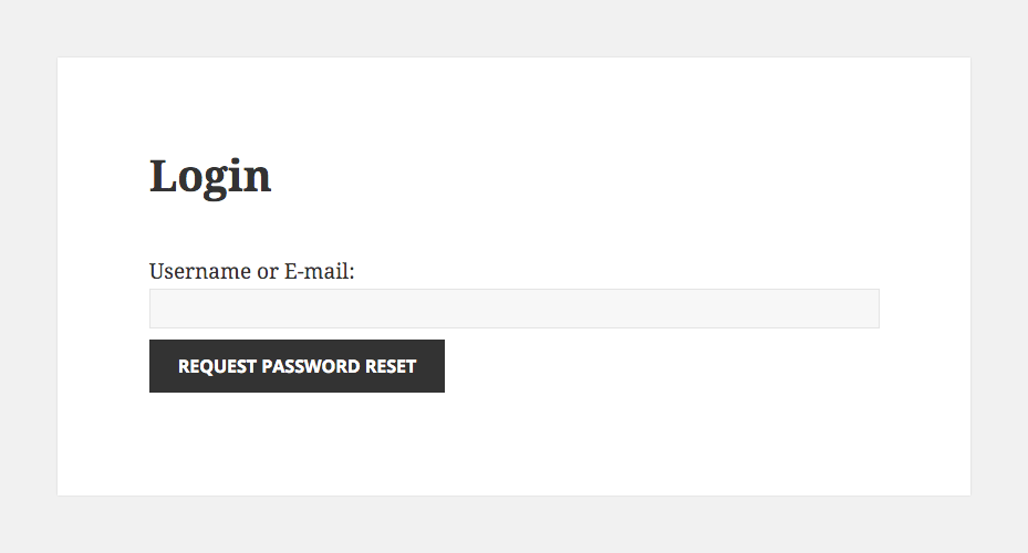 Restrict Content Pro Screenshot Login