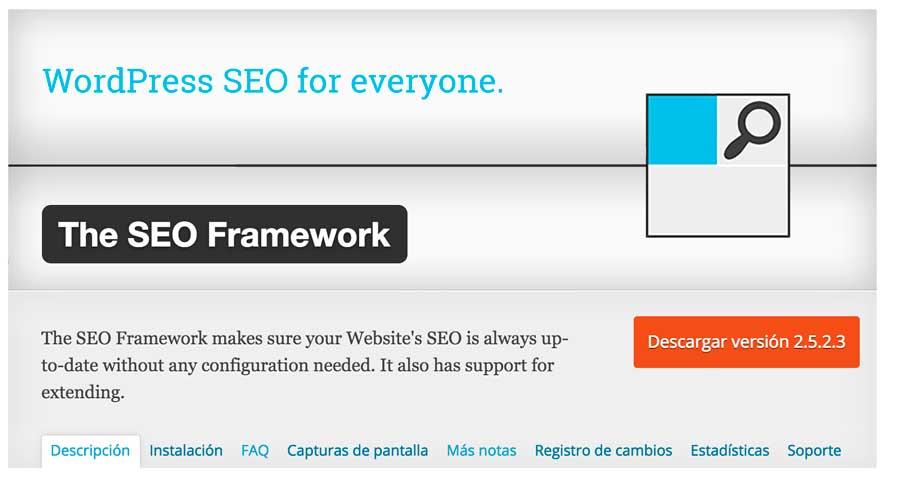 Seo Framework plugin