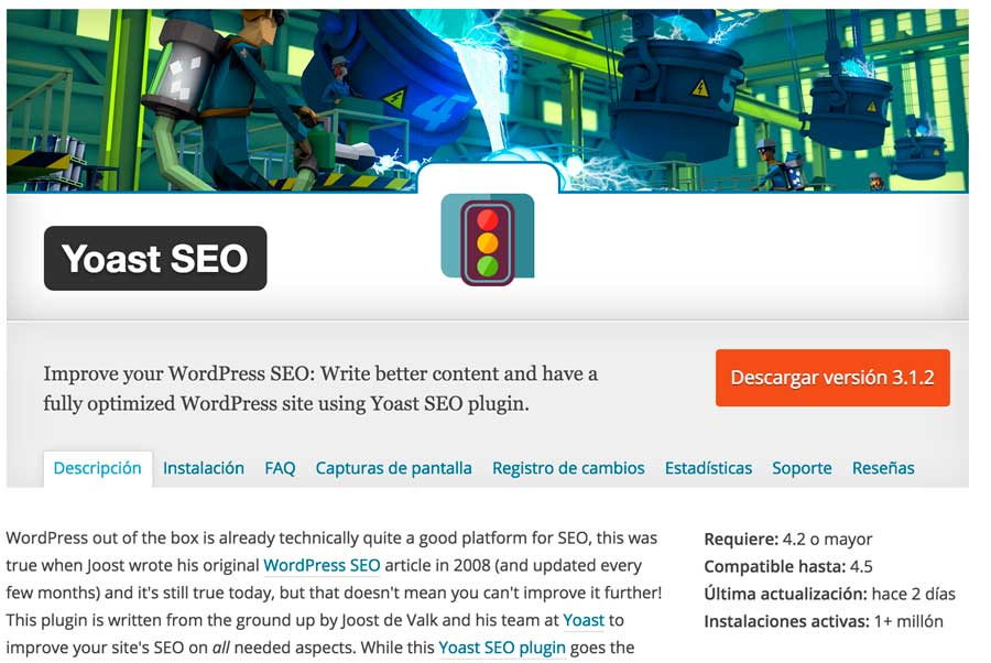 Plugin yoast para WordPress
