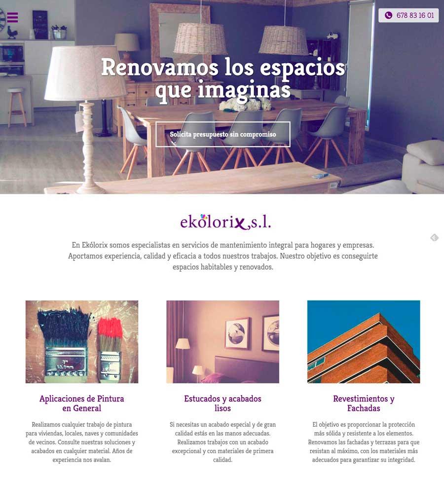Página web Ekólorix Paiporta diseño web