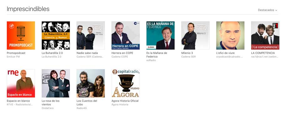 Podcasts en iTunes español
