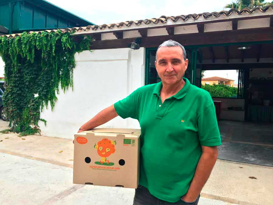 Jordi Alcañiz de naranjasecologicas.com en Carcaixent Valencia