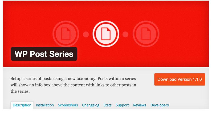 Plugin WordPress WP Post Series