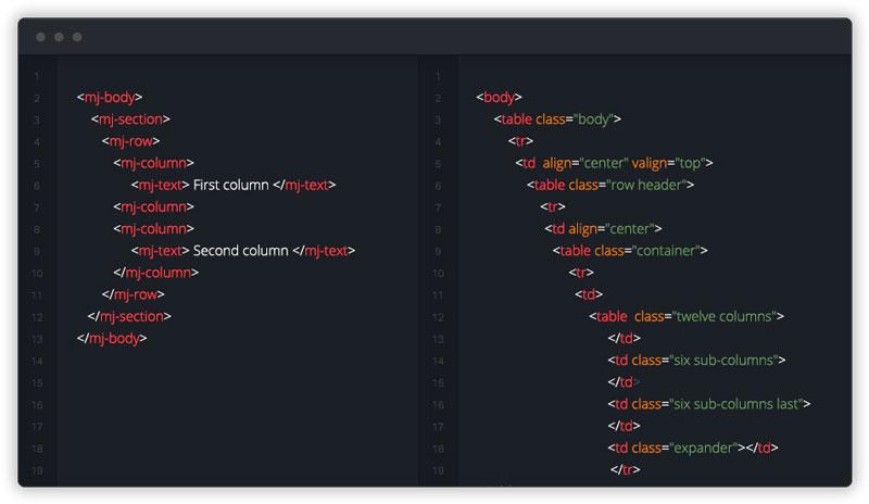 MJML Framework correos electrónicos responsive