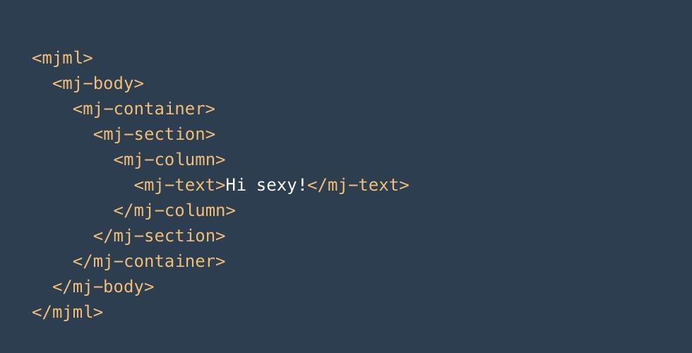 Sintaxis básica del MJML framework