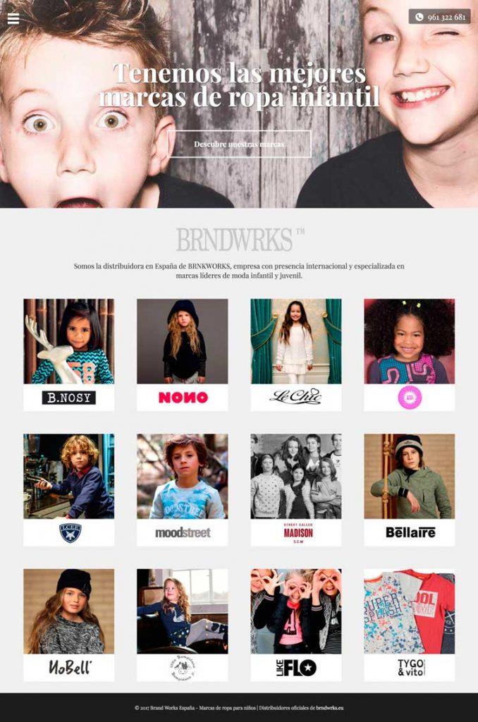 Captura de pantalla de página web Brand Works España