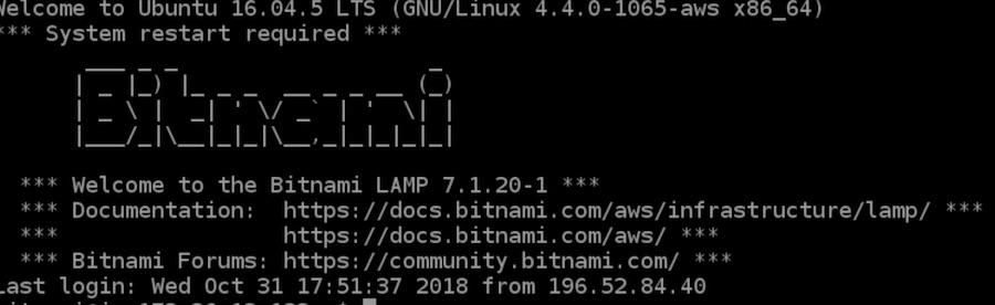 Amazon Lightsail Bitnami acceso terminal