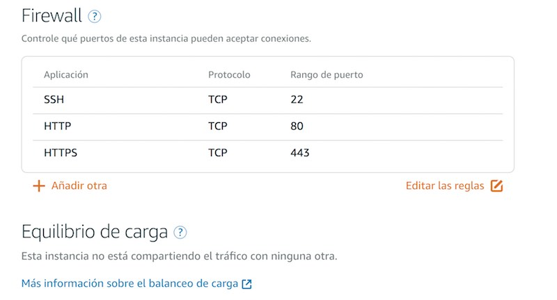 Amazon Web Services Lightsail redes