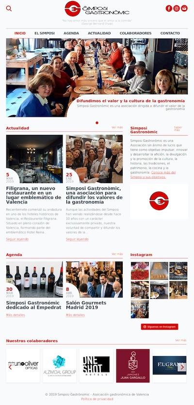 Captura del proyecto sitio web Simposi Gastronòmic