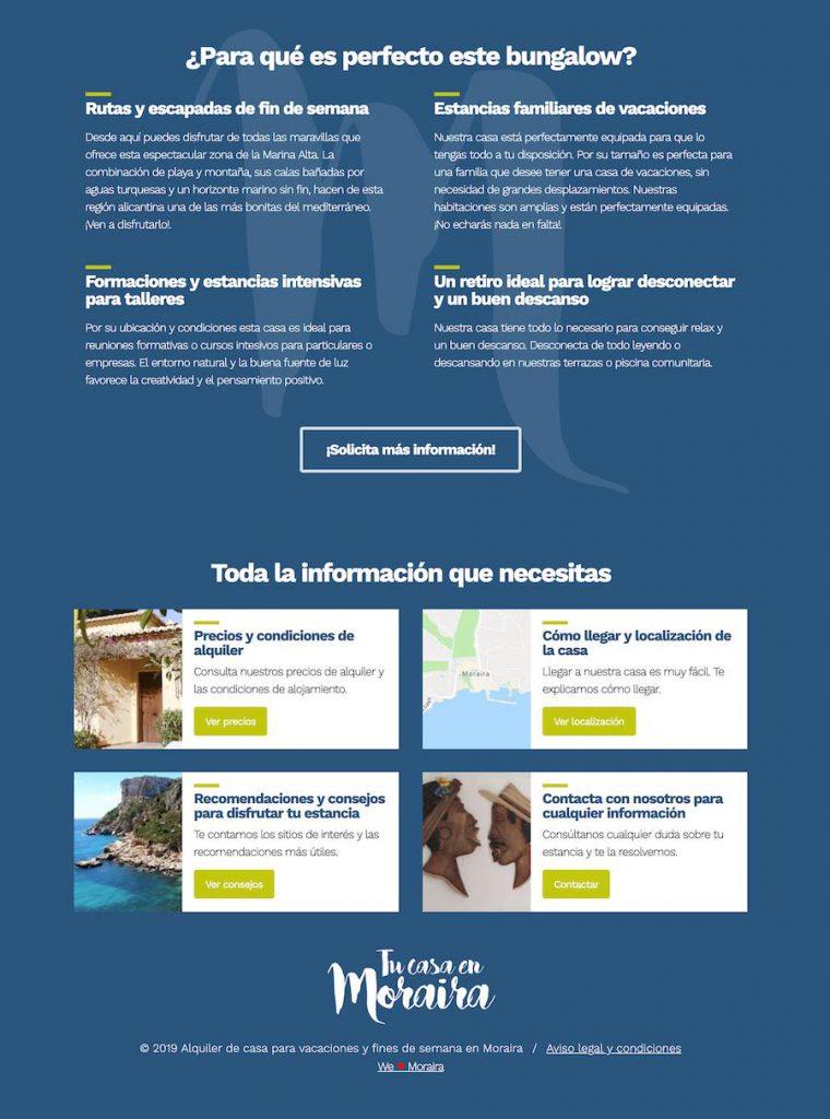 Diseño de página web Tu casa en Moraira