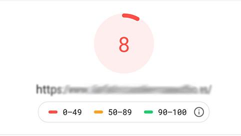 Resultado de pagespeed insights de Google