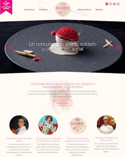 Captura del proyecto web La Cuchara Concurso Femenino de cocina