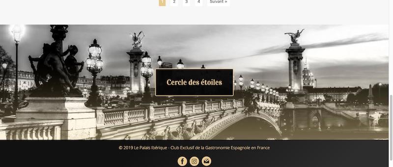 Captura del sitio web Le Palais Ibérique